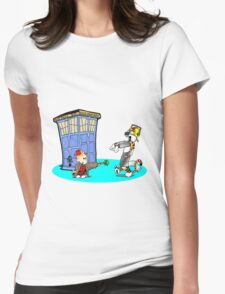 Calvin and Hobbes Doctor Who Womens Fitted T-Shirt