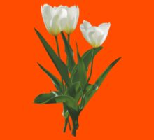 Backlit White Tulip Kids Clothes