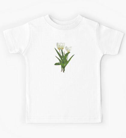 Backlit White Tulip Kids Tee