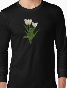 Backlit White Tulip Long Sleeve T-Shirt