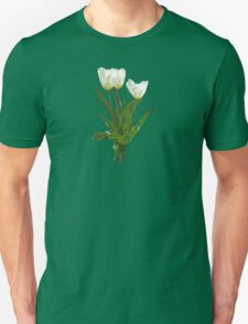 Backlit White Tulip Unisex T-Shirt