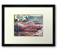 Let Sleeping Mermaids Lie Framed Print