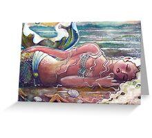 Let Sleeping Mermaids Lie Greeting Card