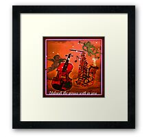 unleash the genius with in you Framed Print