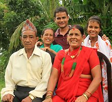 Nepali Family by Jamie Mitchell
