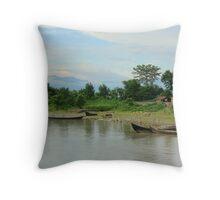 Koshi Riverbank Throw Pillow