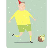 FOOTBALLING HAPPY CHRISTMAS by Jane Newland