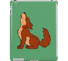 Natural Red Howling Wolf Pup iPad Case/Skin