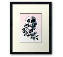 Skull & Magnolia Flowers Framed Print