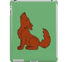 Solid Natural Red Howling Wolf Pup iPad Case/Skin