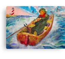The Lone Boatman Canvas Print