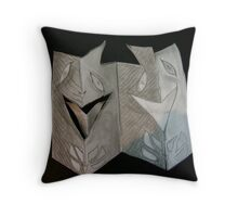 cardboard masks Throw Pillow
