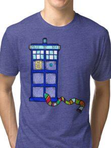 Tardis Scarf Tri-blend T-Shirt