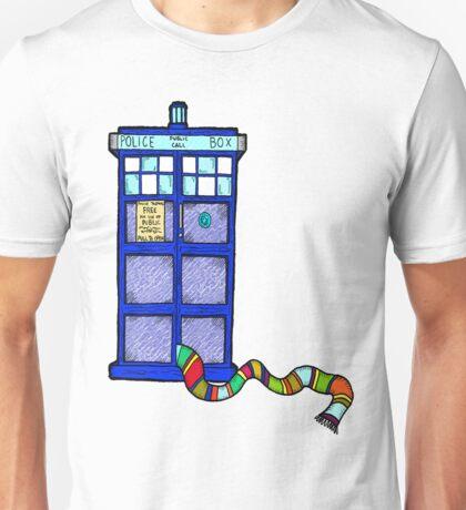 Tardis Scarf Unisex T-Shirt