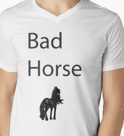Bad Horse  Mens V-Neck T-Shirt