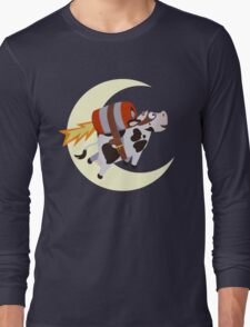 The Cow's Successful Mission Over The Moon Long Sleeve T-Shirt