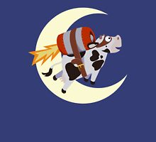The Cow's Successful Mission Over The Moon Womens Fitted T-Shirt