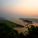 Sunrise Golden Triangle Thailand by Duane Bigsby
