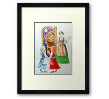 Drawing N°1  Snow-White and Rose-Red Framed Print