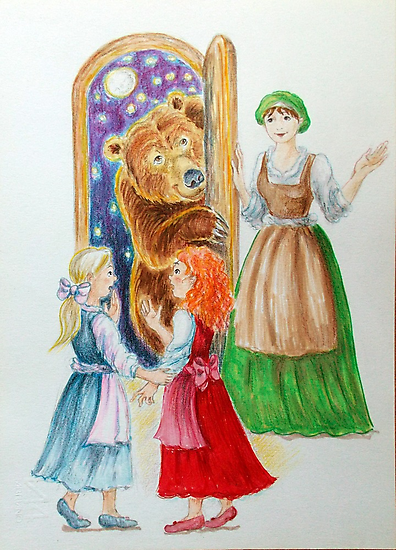 Drawing N°1  Snow-White and Rose-Red by Francesca Romana Brogani