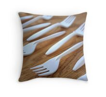 Collecting Spoons Throw Pillow