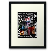 RENT Quotes Framed Print