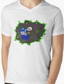 Tardis VS Delorean Mens V-Neck T-Shirt