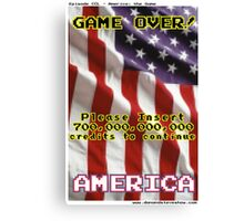 America The Game Canvas Print