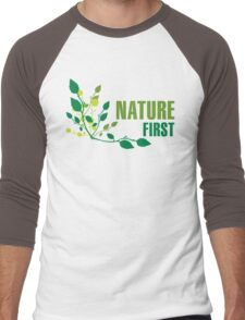Nature First Men's Baseball ¾ T-Shirt