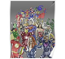 Justice League Avengers Poster