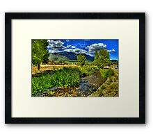 The Red Willow Creek on Taos Pueblo Framed Print