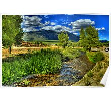 The Red Willow Creek on Taos Pueblo Poster