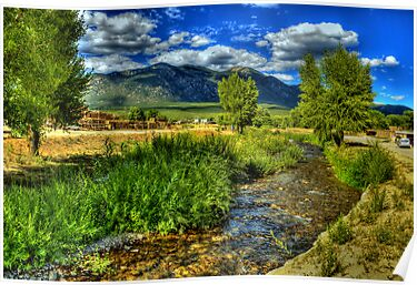 The Red Willow Creek on Taos Pueblo by Diana Graves Photography
