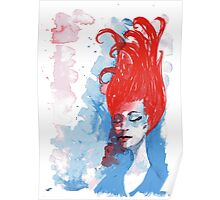 Reverie in red, white and blue Poster
