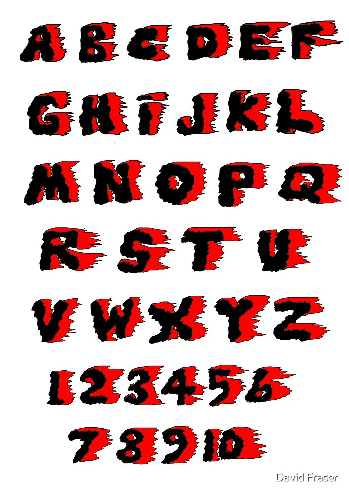 Alphabet on Fire by David Fraser