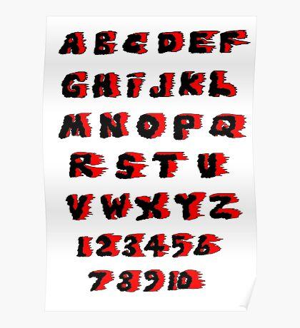 Alphabet on Fire Poster
