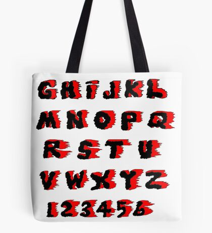 Alphabet on Fire Tote Bag