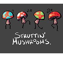 Struttin' Mushrooms Photographic Print