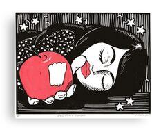 Snow white's slumber Canvas Print