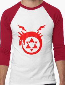 FullMetal Alchemist Uroboro [red] Men's Baseball ¾ T-Shirt