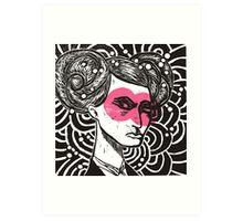 Bunhead - Rose coloured glasses Art Print
