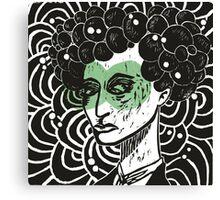 Bubblehead - Green eyed glances Canvas Print