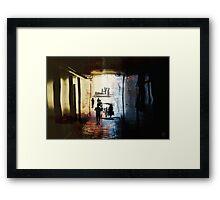 liquid spaces.portal Framed Print