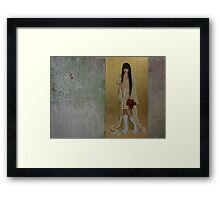 """""""Would you like to see my new dress?"""" Framed Print"""