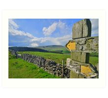 Lancashire: Witch Way to Pendle Hill ? Art Print