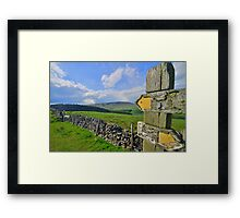 Lancashire: Witch Way to Pendle Hill ? Framed Print