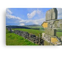Lancashire: Witch Way to Pendle Hill ? Metal Print