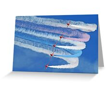 Smokin !! - The Red Arrows - Duxford 26.05.2013  Greeting Card