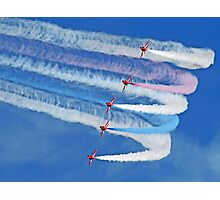 Smokin !! - The Red Arrows - Duxford 26.05.2013  Photographic Print