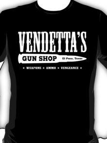 Vendetta's Gun Shop (White Print) T-Shirt